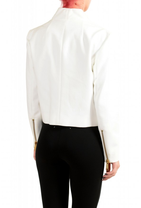 Dsquared2 Women's White Full Zip Cropped Blazer : Picture 3