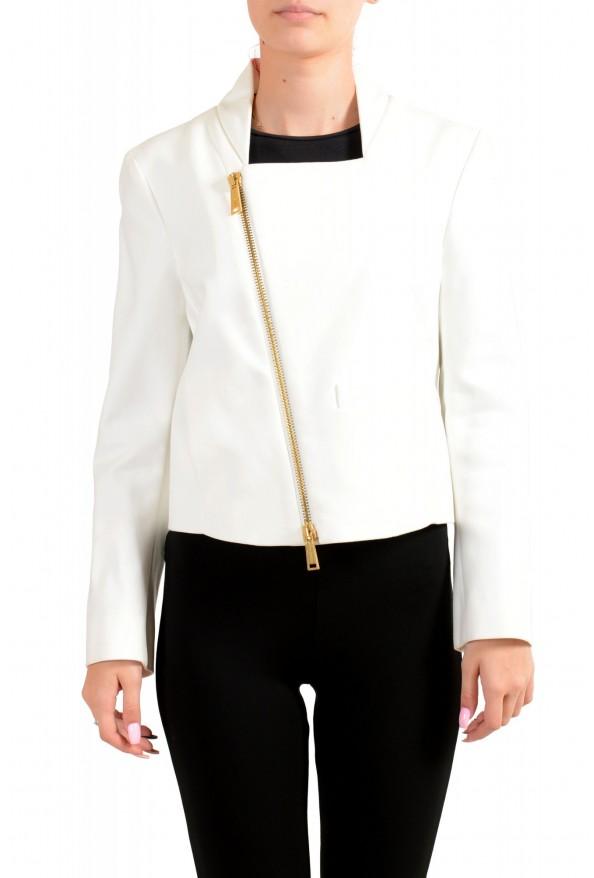 Dsquared2 Women's White Full Zip Cropped Blazer