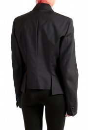 Dsquared2 Women's Wool Silk Black Beads Decorated One Button Blazer: Picture 3