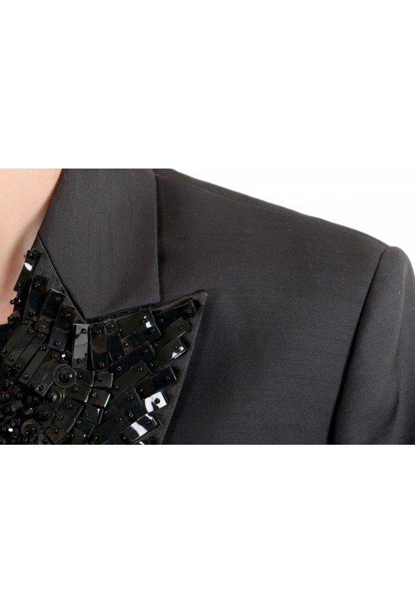 Dsquared2 Women's Wool Silk Black Beads Decorated One Button Blazer: Picture 4