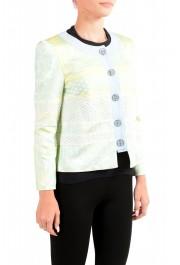 Just Cavalli Women's Multi-Color Striped Button Down Blazer Jacket : Picture 2