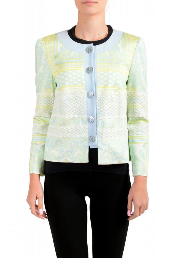 Just Cavalli Women's Multi-Color Striped Button Down Blazer Jacket