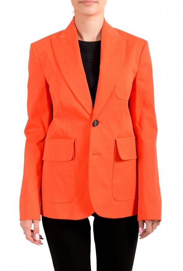 Dsquared2 Women's Bright Orange Two Button Blazer