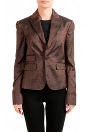 Dsquared2 Women's 100% Silk Floral Print One Button Blazer
