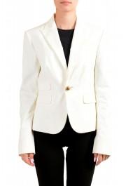 Dsquared2 Women's White One Button Blazer