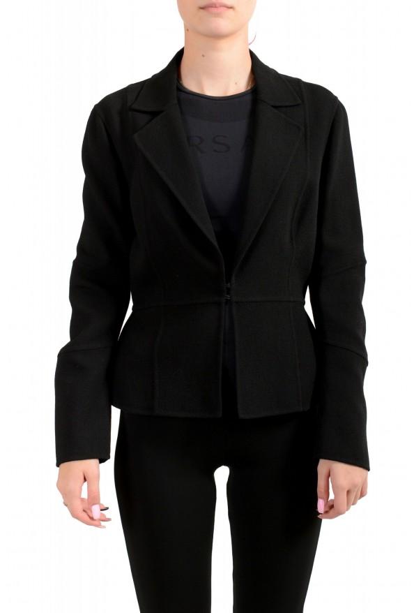 Dsquared2 Women's Black Wool Knitted Blazer