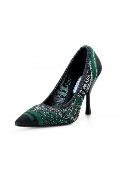 Prada Women's 11192L Canvas High Heel Pumps Shoes