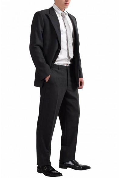 Armani Collezioni Men's 100% Wool Plaided Two Button Gray Suit : Picture 2