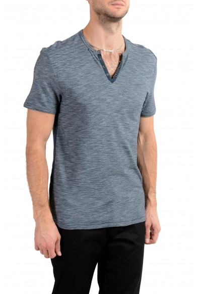 John Varvatos Star USA Men's Blue Short Sleeve Henley Shirt US M IT 50: Picture 2