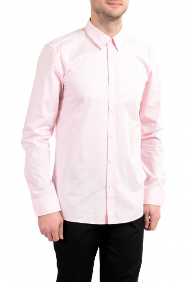 "Hugo Boss ""Elisha01"" Men's Extra Slim Pink Long Sleeve Dress Shirt"