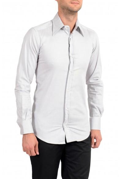 Dolce&Gabbana Men's Gray Stretch Long Sleeve Dress Shirt