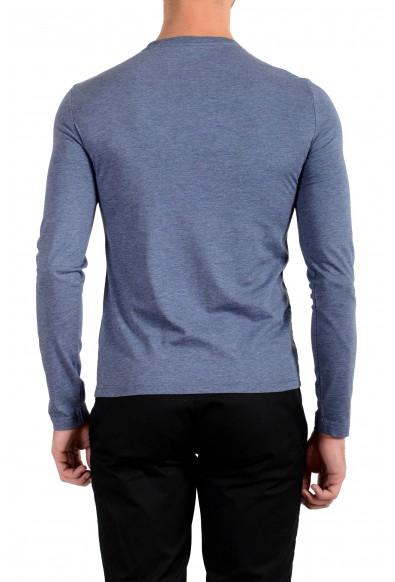 Burberry Men's Blue Crewneck Long Sleeve T-Shirt: Picture 2