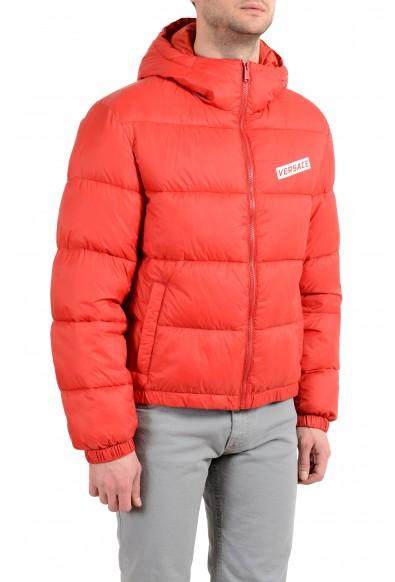 Versace Men's Red Logo Full Zip Hooded Parka Jacket: Picture 2