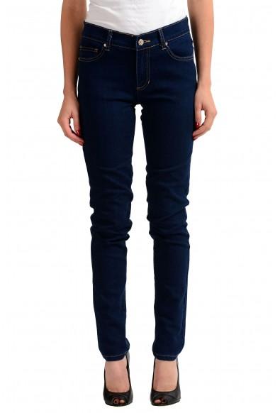 Versace Jeans Dark Blue Women's Straight Leg Denim Jeans