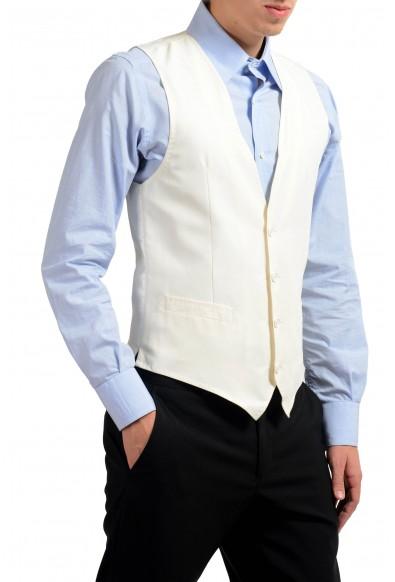 Dolce & Gabbana Men's 100% Silk White Button Up Dress Vest : Picture 2