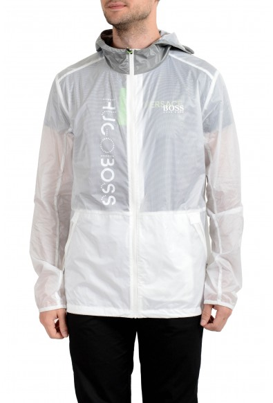 "Hugo Boss ""Jeret"" Men's Full Zip Hooded Windbreaker Jacket"