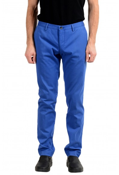 "Hugo Boss ""Stanino16-W"" Men's Blue Slim Stretch Casual Pants"