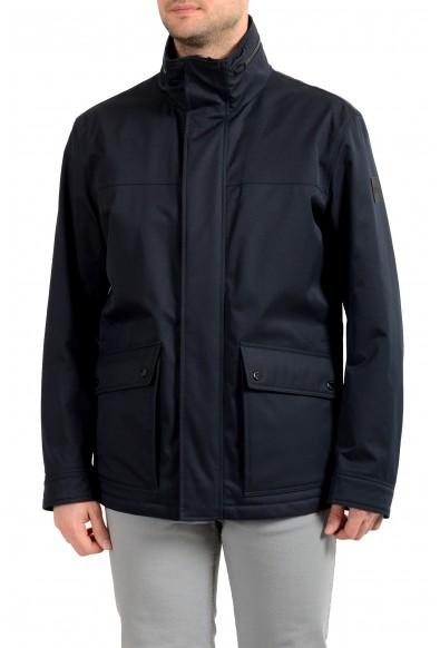 "Hugo Boss Men's ""Cemos"" Blue Windbreaker Full Zip Jacket Coat"