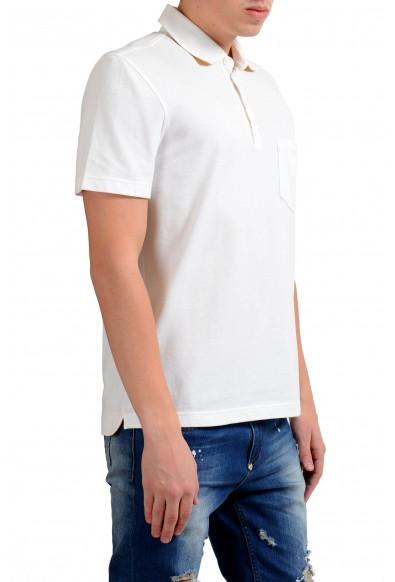 Malo Men's White Pocket Short Sleeve Polo Shirt: Picture 2