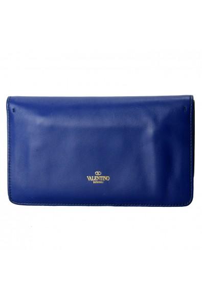 Valentino Garavani Women's Blue 100% Leather Rockstud Clutch Bag: Picture 2