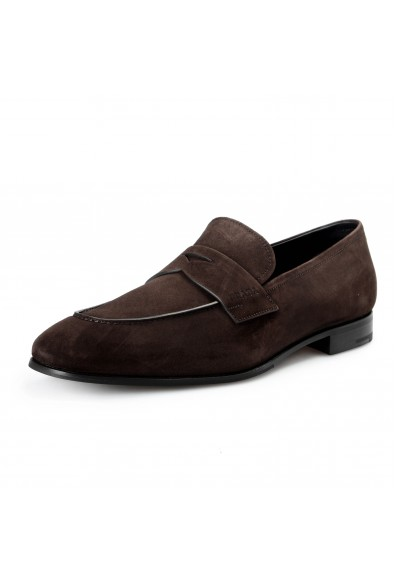 """Prada Men's """"2DB185"""" Brown Suede Leather Loafers Slip On Shoes"""