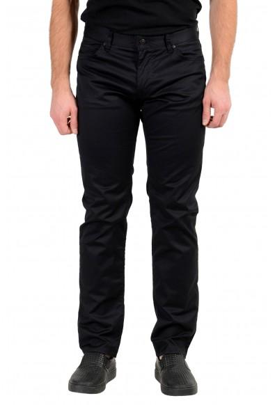 "Hugo Boss Men's ""Maine3-20"" Regular Fit Black Stretch Jeans"