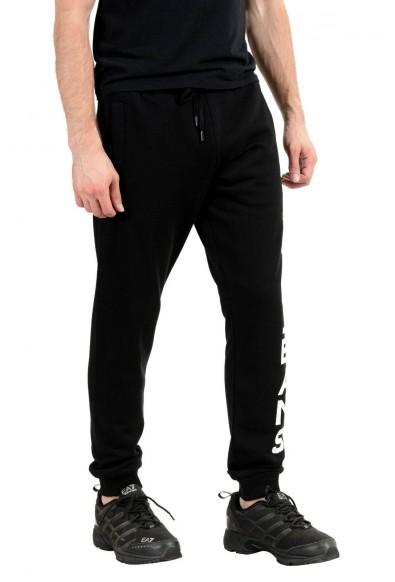 Versace Jeans Men's Black Logo Sweatpants: Picture 2