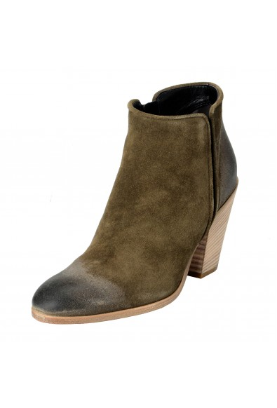 Giuseppe Zanotti Design Women's Leather Khakis Daddy Ankle Boots Shoes