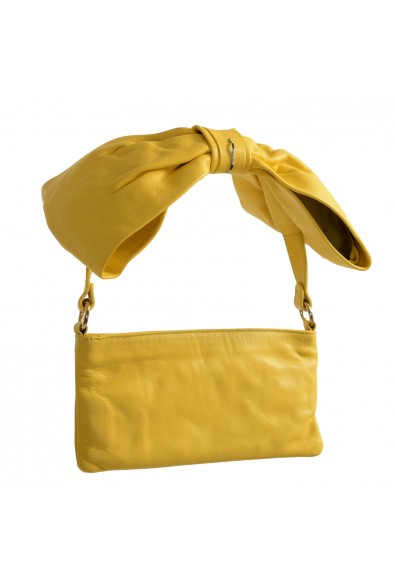 Red Valentino Women's Yellow 100% Leather Shoulder Bag Clutch: Picture 2