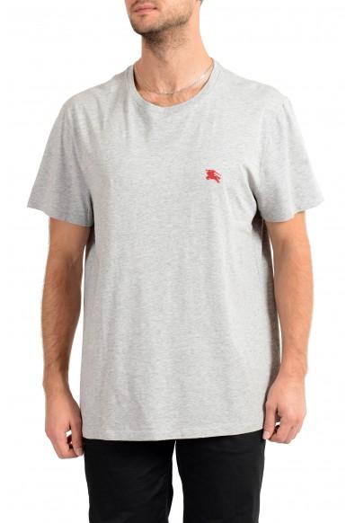 Burberry Men's Gray Crewneck Short Sleeve T-Shirt