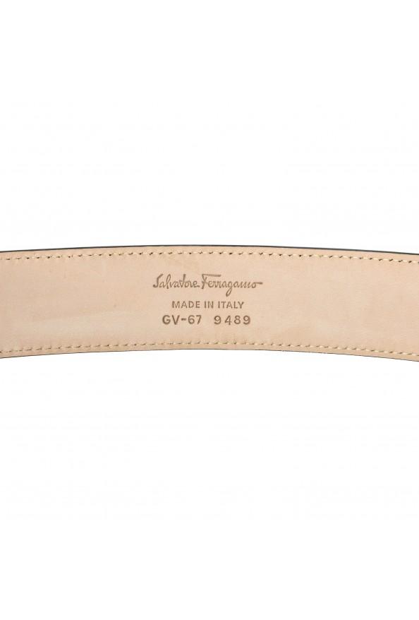 Salvatore Ferragamo 100% Leather Gray Men's Buckle Belt: Picture 3