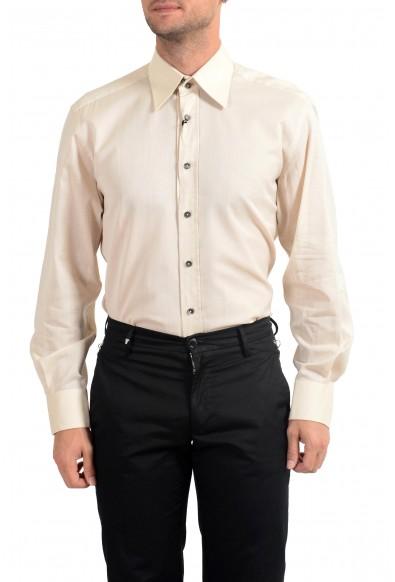Dolce&Gabbana Men's Slim Beige Long Sleeve Dress Shirt : Picture 2
