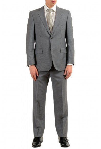 "Hugo Boss ""Paolini1/Movio1US"" Men's 100% Wool Striped Gray Two Button Suit"