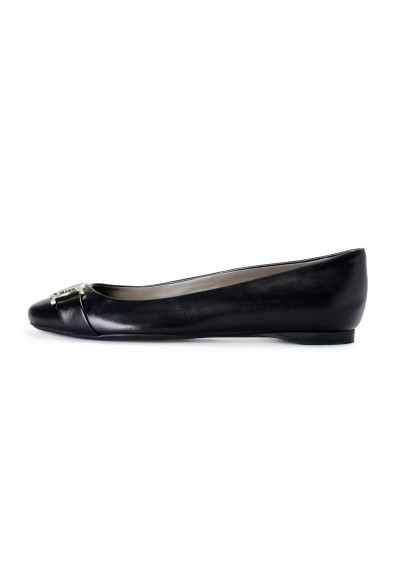 Versace Collection Women's Black Leather Ballets Flat Shoes: Picture 2