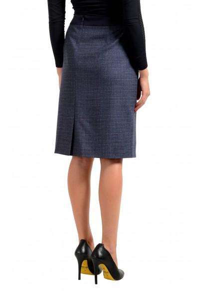 "Hugo Boss Women's ""Virusa"" Gray 100% Wool Pencil Skirt: Picture 2"