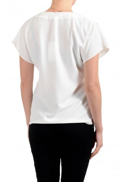 """Hugo Boss Women's """"Inona"""" White Short Sleeve Blouse Top: Picture 2"""