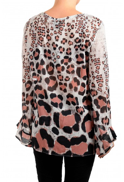 Just Cavalli Women's Multi-Color Silk Blouse Top : Picture 2