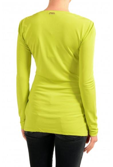 Versace Jeans Women's Green Mock Neck Long Sleeve Top : Picture 2