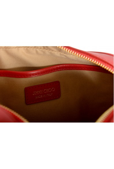 """Jimmy Choo Women's Red Leather """"Athini"""" Camera Shoulder Crossbody Bag: Picture 2"""