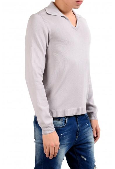 Malo Men's Cloud Gray Pullover Sweater: Picture 2