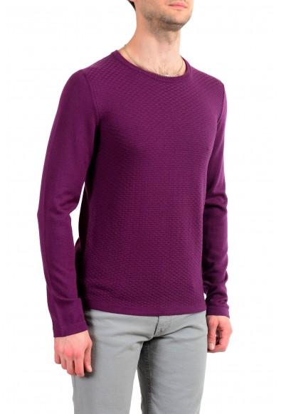 Just Cavalli Men's 100% Wool Purple Crewneck Sweater: Picture 2