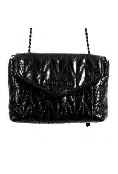 Miu Miu Women's 5BH175 Black Leather Chain Shoulder Bag: Picture 2