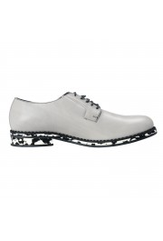 Jimmy Choo Men's Leather Alaric Cloud Gray Lace Up Oxfords Shoes: Picture 3