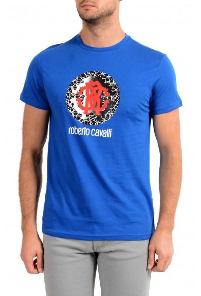 "Roberto Cavalli ""Beachwear"" Men's Blue Graphic Print T-Shirt"