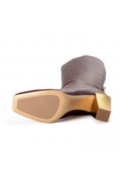 "Salvatore Ferragamo Women's ""BLAVY"" Leather High Heel Boots Shoes: Picture 5"
