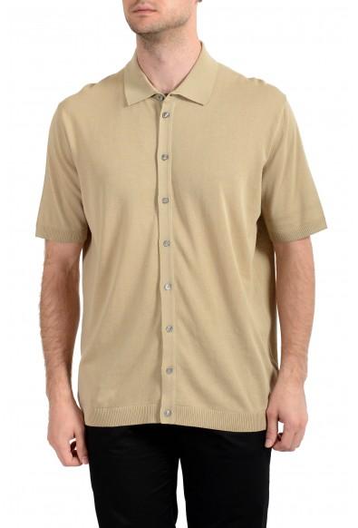 Malo Men's Beige Short Sleeve Casual Shirt