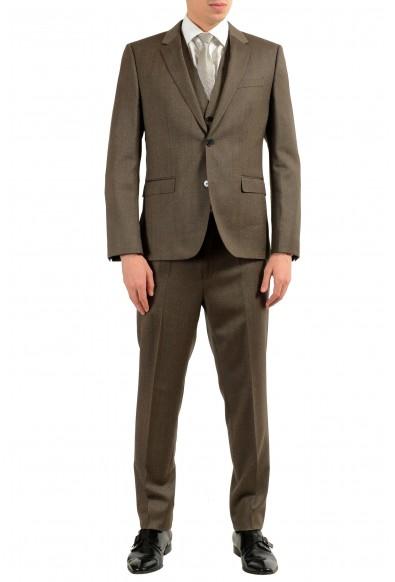 "Hugo Boss ""Adwart/Wilard/H/ets"" Men's 100% Wool Brown Three Piece Suit"