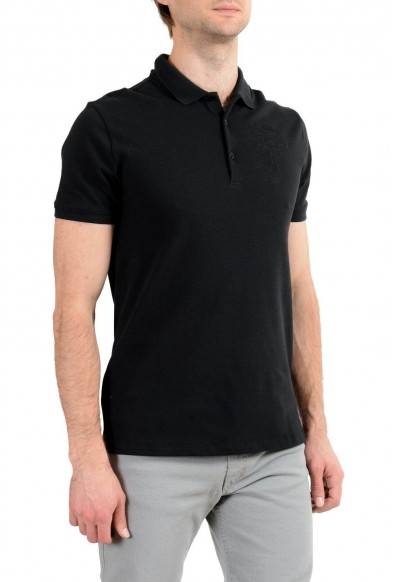Versace Collection Men's Black Logo Short Sleeve Polo T-Shirt: Picture 2