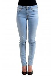 "Just Cavalli ""Luxury"" Blue Women's Skinny Legs Distressed Jeans"