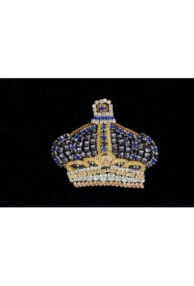 Versace 'n' Royalty Men's DFZ6735-DVEL Blue Velour Backpack: Picture 2